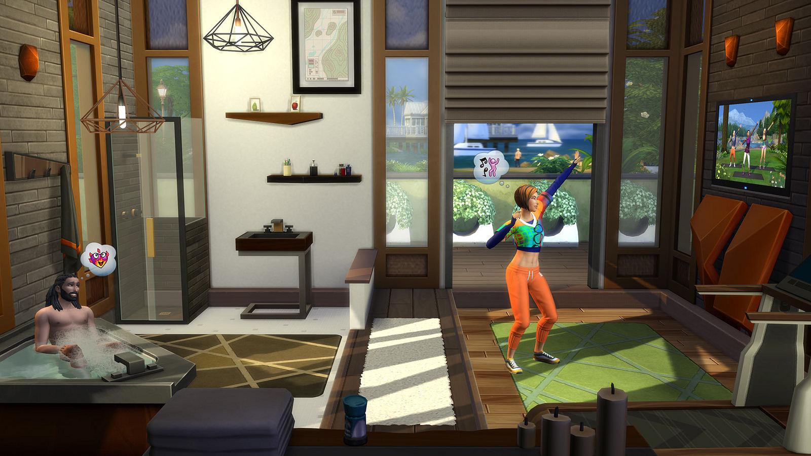 Vasca Da Bagno The Sims Mobile : The sims 4 fitness arrampicate auricolari esercizi e altro