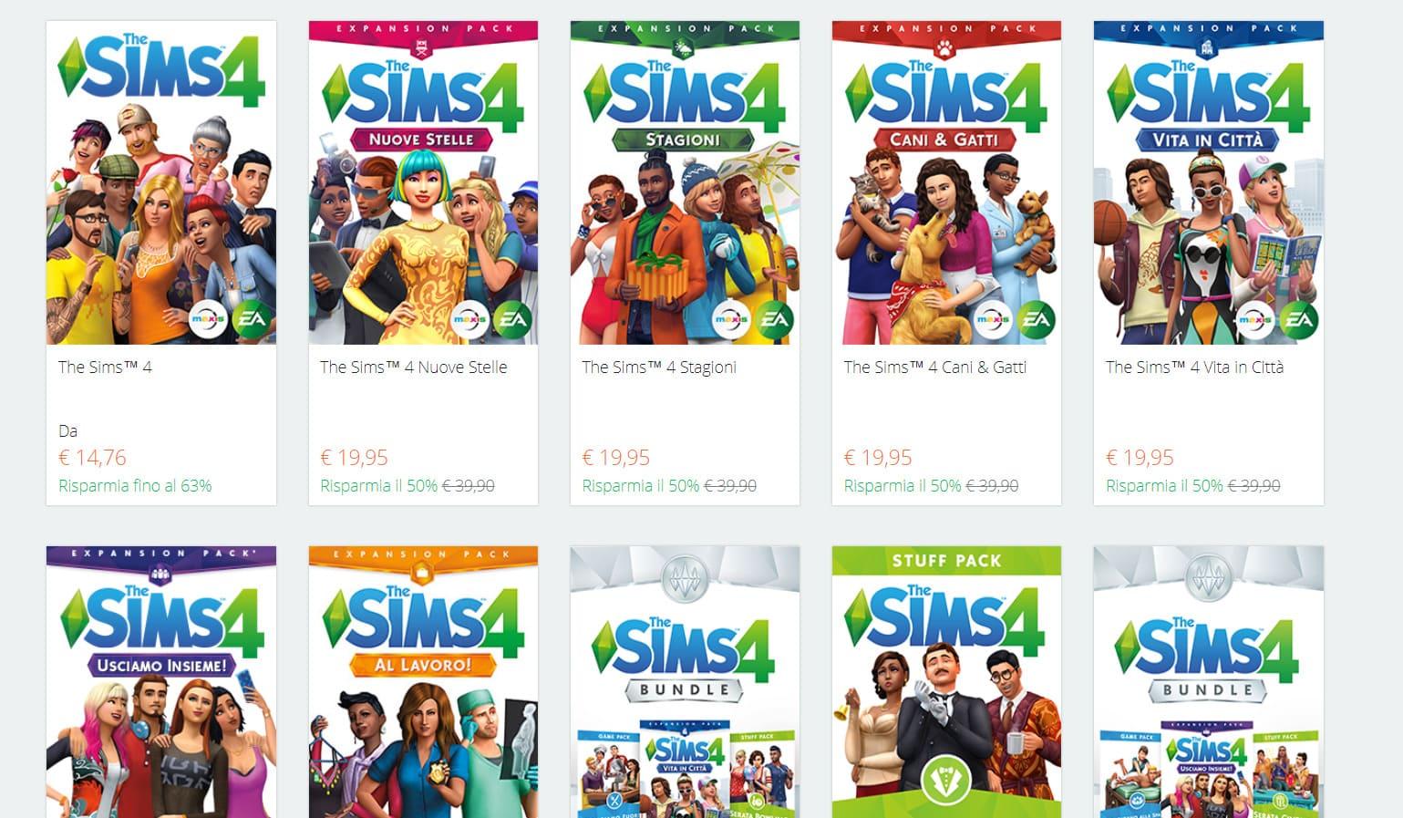 Scarica espansioni the sims 4 con gioco originale