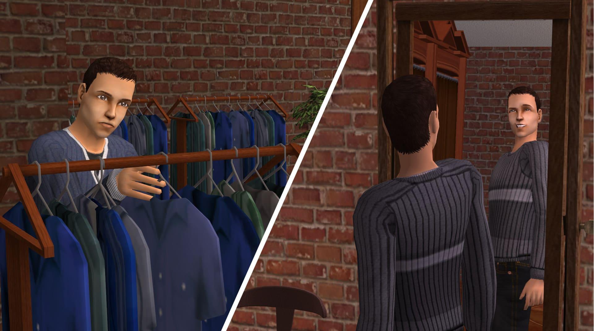 Cinque dettagli di The Sims 2 che ci mancano tutt'oggi - Acquistare vestiti