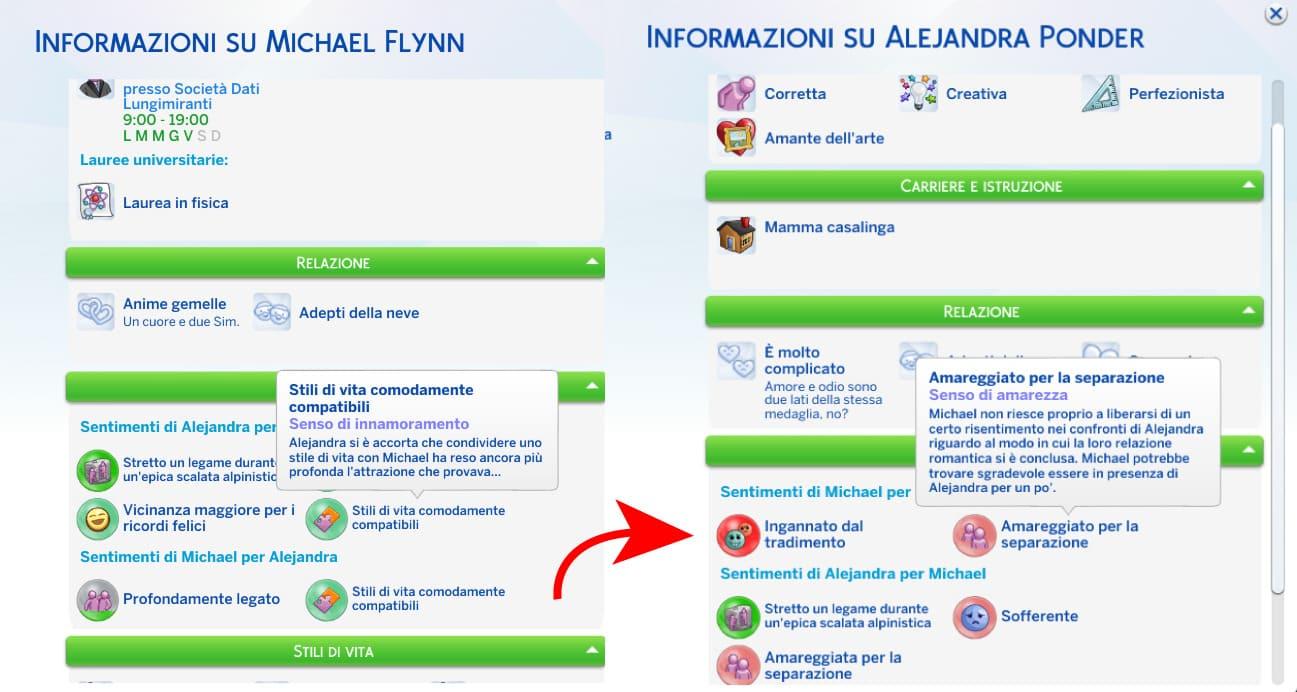 The Sims 4 - Guida completa ai sentimenti & lista